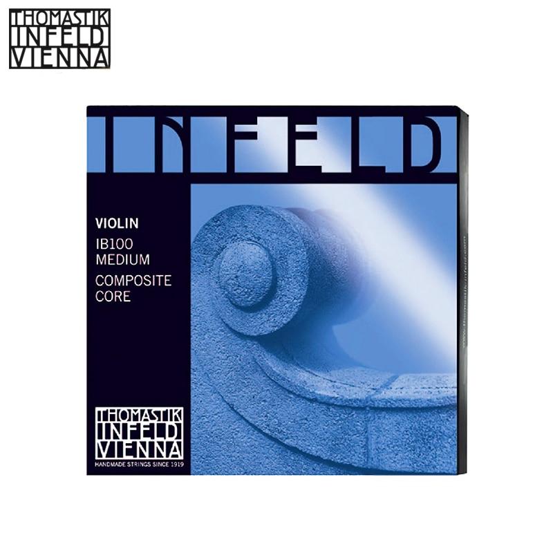 Thomastik-Infeld IB100 Blue Violin Strings, Complete Set, IB100, 4/4 Size, Synthetic Core thomastik infeld ib100 blue violin strings complete set ib100 4 4 size synthetic core