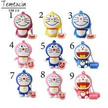 Free Shipping Doraemon USB PenDrive 2.0 USB Flash Drive16GB 8GB 4GB Cat Pen Drive Memory Stick U Disk Thumb Drive Mini Gift
