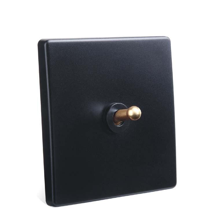 Switch Borad Retro Black Light Switch One Control Two Way 10A 110V- 250V