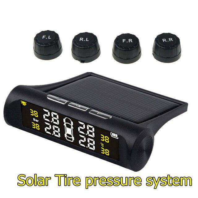 デジタルソーラー Tpms タイヤ空気圧モニターシステム液晶ディスプレイ 4 外部センサー自動警報セキュリティ Vw トヨタ BMW アウディ