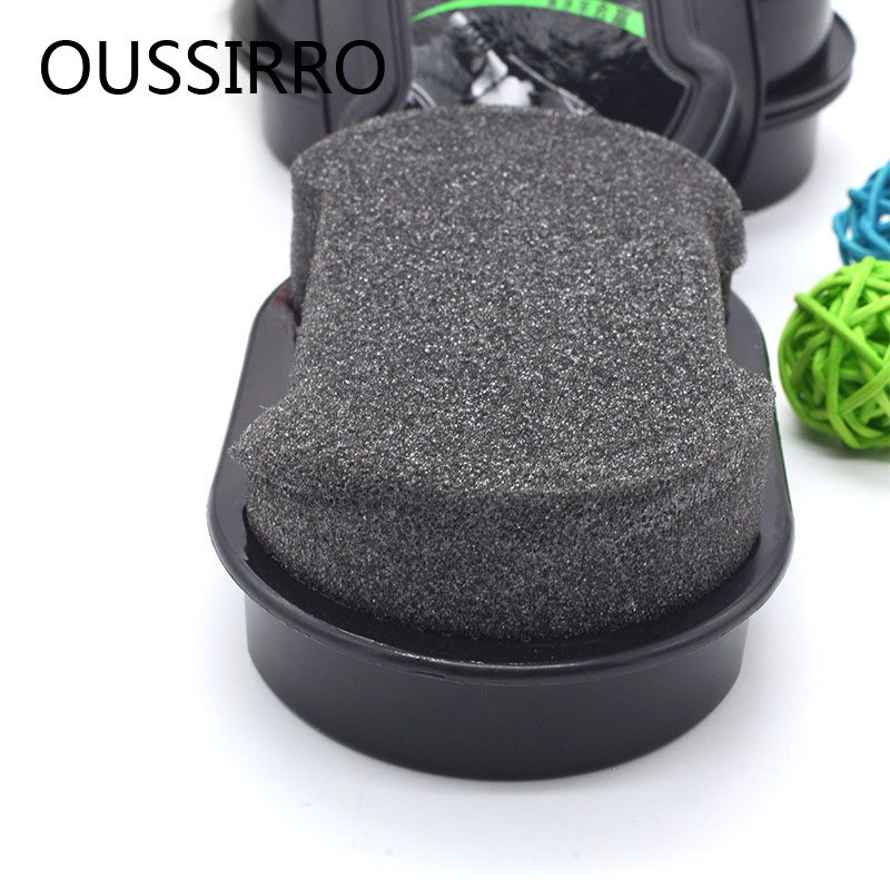 1 Pcs Colorless Sponge Shoe Polish Brush - Sponge Contains Shoe Polish Rich in Silicone Oil and Palm Wax - Suitable for Leather