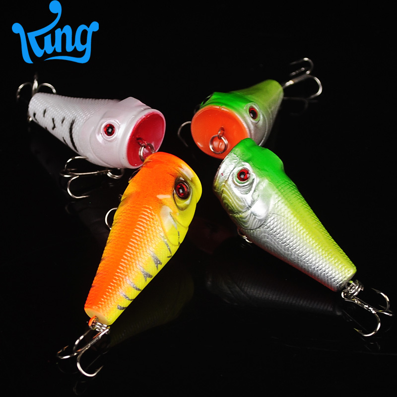 aliexpress : buy 4pcs lot topwater popper freshwater fishing, Hard Baits