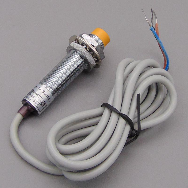 M12 4mm sensing DC 5V NPN NO LJ12A3 4 Z/BX 5V cylinder inductive ...