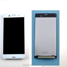 100% Original White LCD Touch Screen with Digitizer assembly For Sony Xperia Z3 D6603 D6643 D6653 , free shipping!