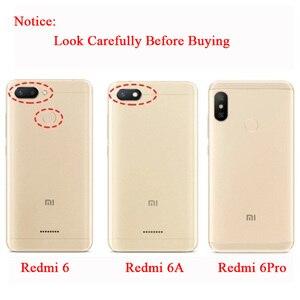 Image 2 - מקורי MOFi לxiaomi Redmi 6A מקרה Redmi 6 TPU עור Flip כיסוי עסקי מקרה סיליקון להגן על יוקרה עבור Redmi 6 פרו מקרה
