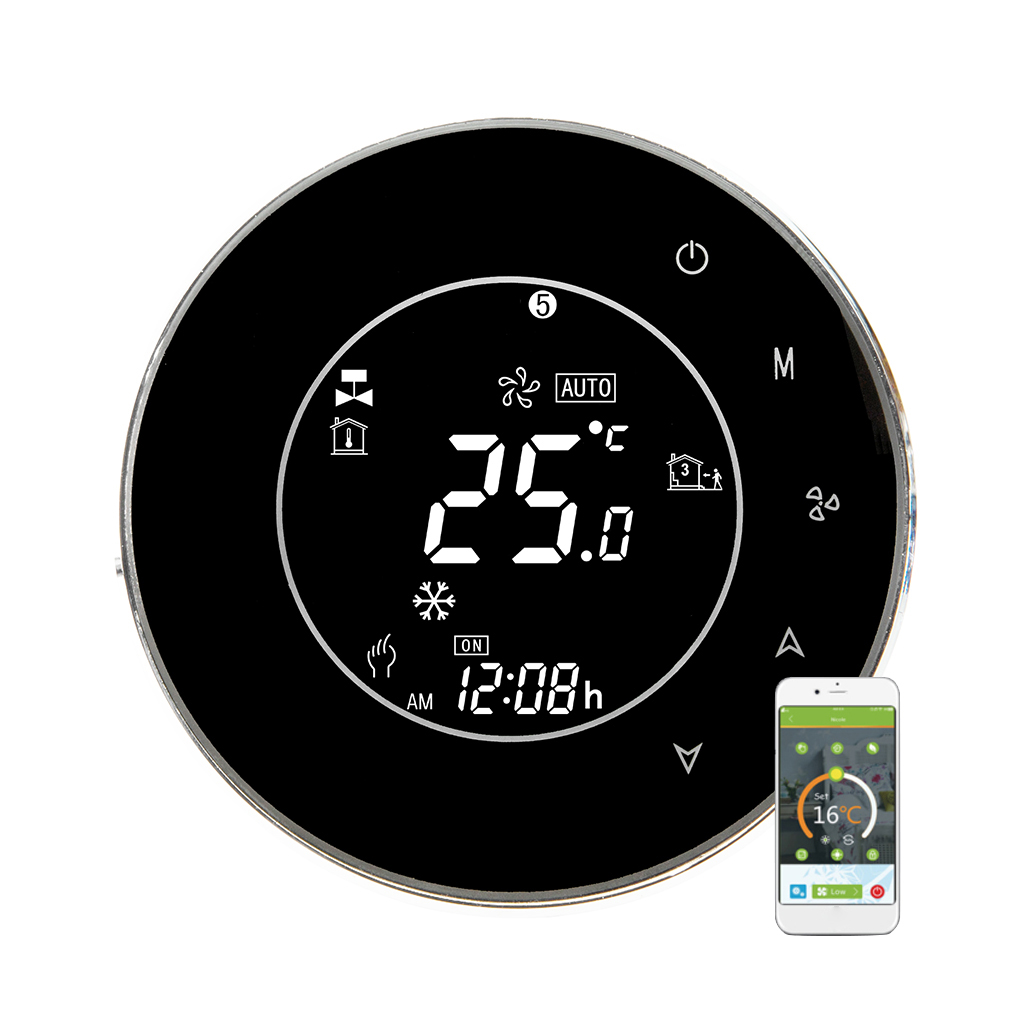 WiFi Integral Central Air Conditioner Temperature Controller 2 Pipe Programmable Thermostat LCD Touchscreen 1pcs