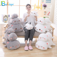 1pc 65cm Kawaii Lying Cat Plush Toys Stuffed Cute Emoji Cat Doll Lovely Animal Pillow Soft Cartoon Cushion Kid Christmas Gift