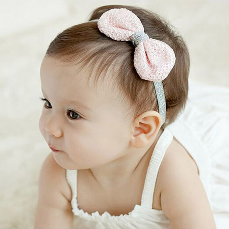 Solid Elastic Princess Girls Headbands Infant Newborn Baby Hair Ornaments Lovely Christmas Kids Hair Accessories Gifts Children