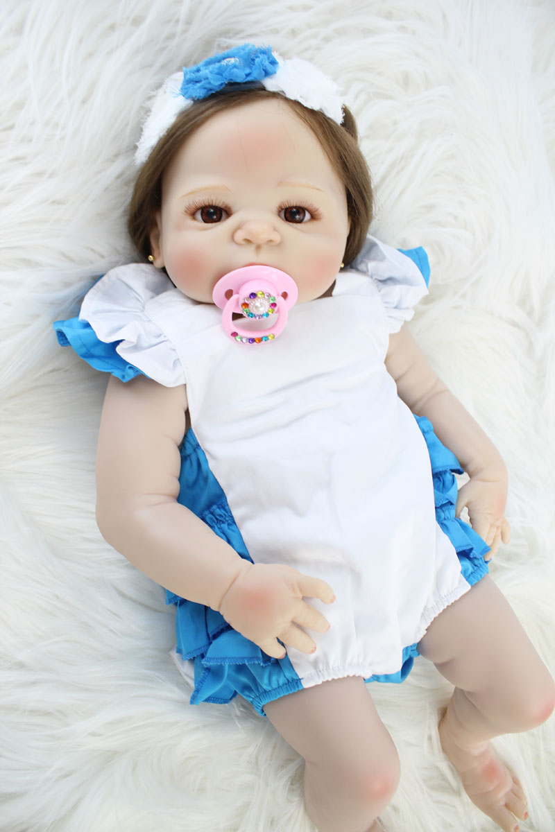 bd009a302 55cm Full Silicone Body Bebe Reborn Baby Doll Toy Like Real Vinyl Newborn  Princess Babies Girl