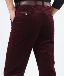 Мужские брюки Spirng, большие размеры, повседневные, на молнии, фланелевые, прямой максимальной длины, мужские зимние свободные брюки на молнии - Цвет: 7