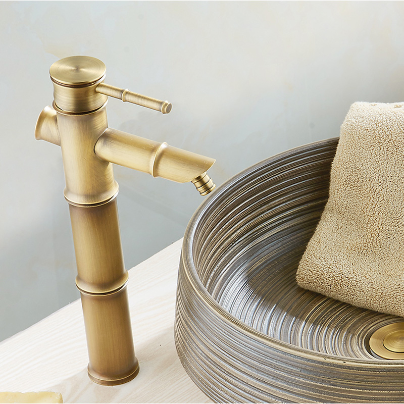 European Bathroom Sink Basin Faucet Bamboo Style Wash Basin vintage ...