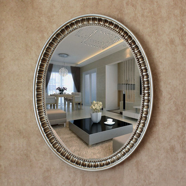 Oy 055 2016 New Mirror Oval Pu Large Antique Decorative Bathroom Wall With
