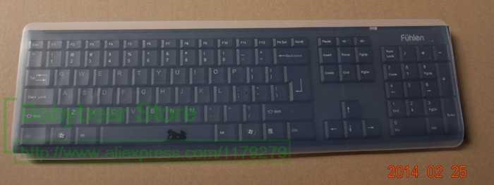 44*14 Cm Silicone Keyboard Protector Cover Kulit untuk Komputer Desktop Keyboard untuk 19 ''21.5'' 22.1'' 23 ''24'' 27 ''29 Cm