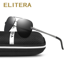 ELITERA Aluminum Magnesium Alloy Sunglasses Men Polarized Eyewear Accessories Sun Glasses For Men UV400 E6107