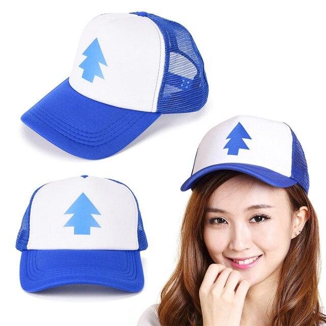 b0097e87b98 Gravity Falls Baseball Cap BLUE PINE TREE Hat Cartoon Hip hop Snapback Cap  New Curved Bill Dipper Adult Men gift