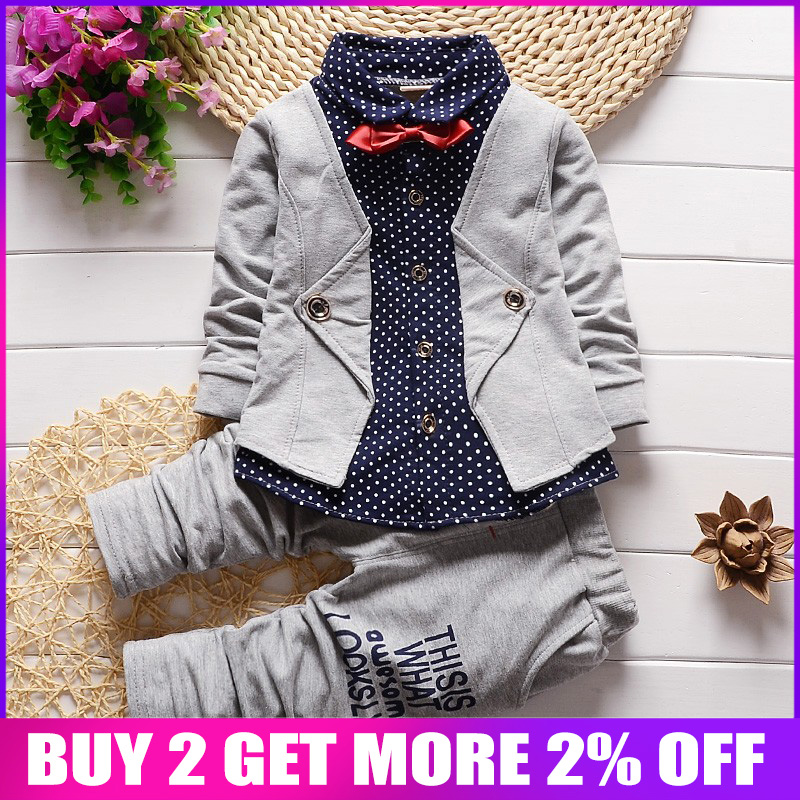 7c3812a82 BibiCola primavera otoño bebé niños ropa Casual niños traje de Deporte Infantil  Niño ropa de niños
