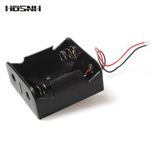 1PCS Wire Leaded Battery Holder Case Box Without Cover For 2 x D Size 3V Batteries 75.3×75.6×35.1mm