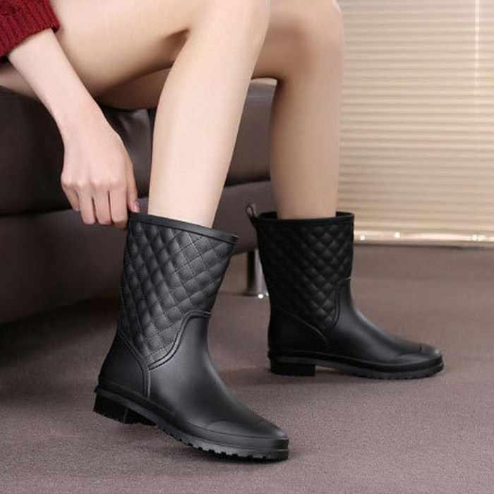 c8af063fe057 2018 women boots rain Italianate Rubber rainboots galosh rain boots Women  Water bot Short Tube galoshes