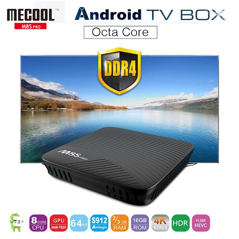 ФОТО M8S Pro Android 7.1 TV Box DDR4 Amlogic S912 64 bit Octa core 2/3GB 16GB ROM BT 4.1+HS 2.4G/5G WiFi Set Top Box Media Player