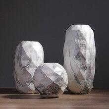 Modern Marbled Geometric Vase