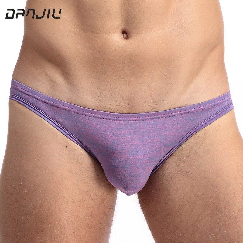 DANJIU Low Waist Sexy Gay Mens Briefs Modal Soft Male Underwear U Convex Solid Slip Cueca Man Underpants Pouch Calzoncillos Slim
