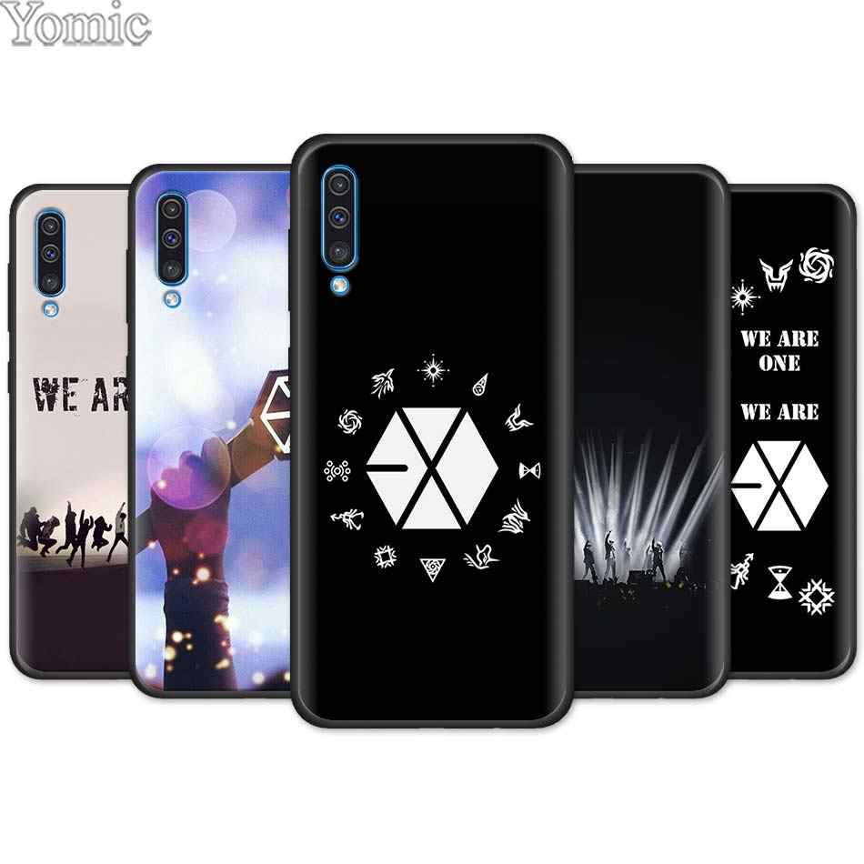 EXO band k-pop kpop Black Soft Case for Samsung Galaxy A50 A70 A40 A10 A20 A30 A60 A9 A8 A6 A7 Silicone TPU Phone Case Cover