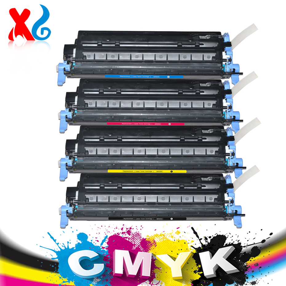 Hot ! CMYK 124A Q6000A Q6001A Q6002A Q6003A Toner Cartridge For HP Color Laserjet 1600 2600 2600n 2605 2605dn 2605dtn CM1015 MFP compatible toner cartridge q6000a q6001a q6002a q6003a for hp laserjet 1600 2600 2605 printer series cm1015 1017 mfp series