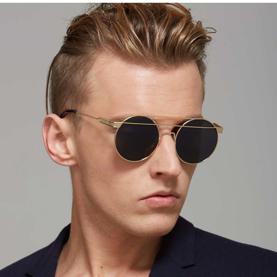 Round Frame Sunglasses Mens  sun glasses for women men retro round eyeglasses metal frame leg