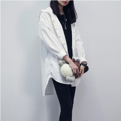 Blusa Otoño Con Étnico Oversize Kimono Larga Cardigan Terciopelo Social Mujeres 2018 Camisa Tops De Blusas Capucha A317 Novedad Blanco w4gwqBt50