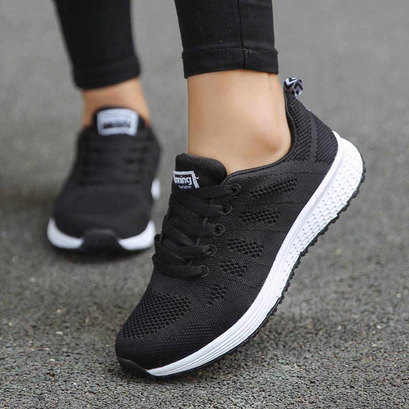 Schuhe Frau Turnschuhe Weiß Plattform Trainer Frauen Schuh Casual Tenis Feminino Zapatos de Mujer Zapatillas Frauen Sneaker Korb