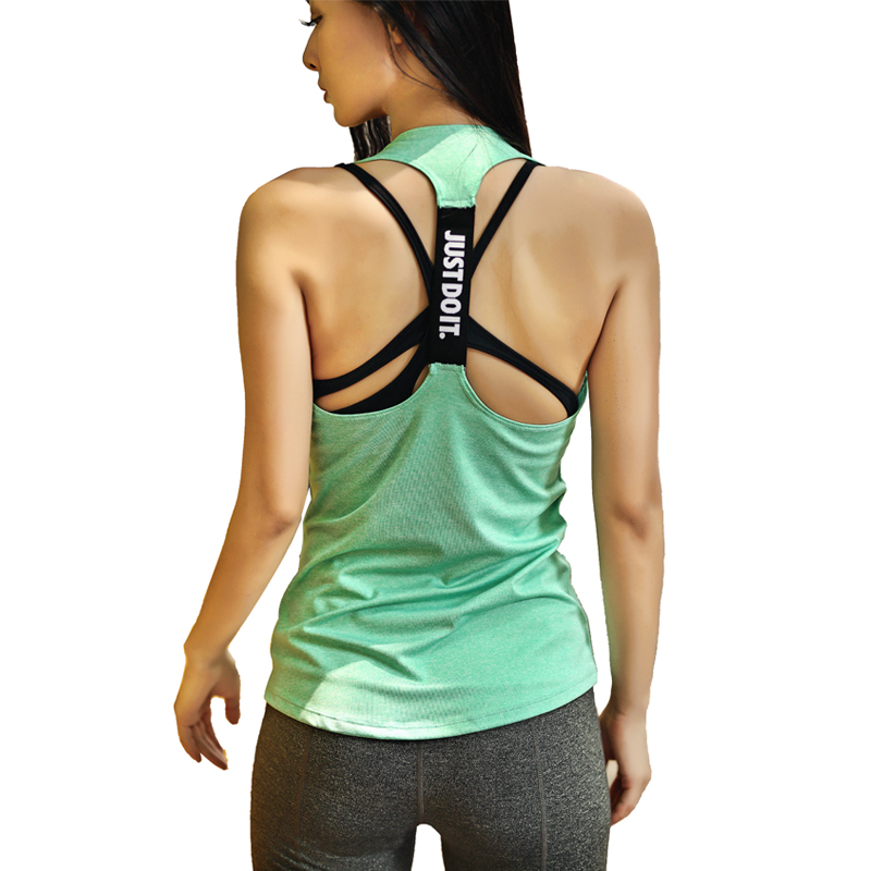 Professional Sport Top Sleeveless Sport Shirt Women Yoga Top Running Gym Shirt Women Workout -9683