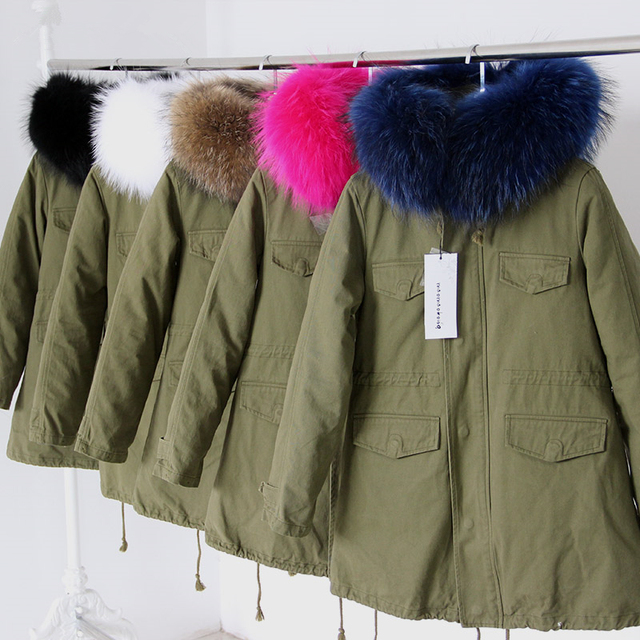 2016 autumn and winter fashion new long sections coat Korean Slim raccoon fur collar hooded cotton coat  DY-851-501