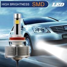 H16 LED Противотуманные огни автомобильной источник света лампы высокой Яркость 2smd белый свет 6000 К DC10V 40 В
