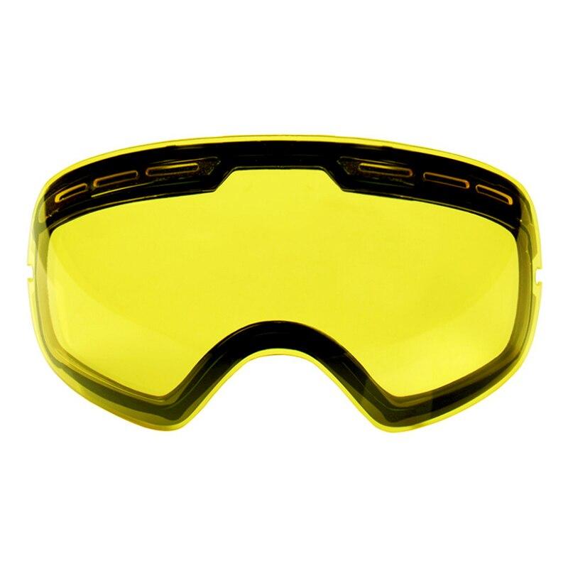 LOCLE двухслойные UV400 Анти-противотуманные лыжные очки линзы осветляющие линзы для слабый светильник подходит для GOG-201/S-3100 (только линзы)