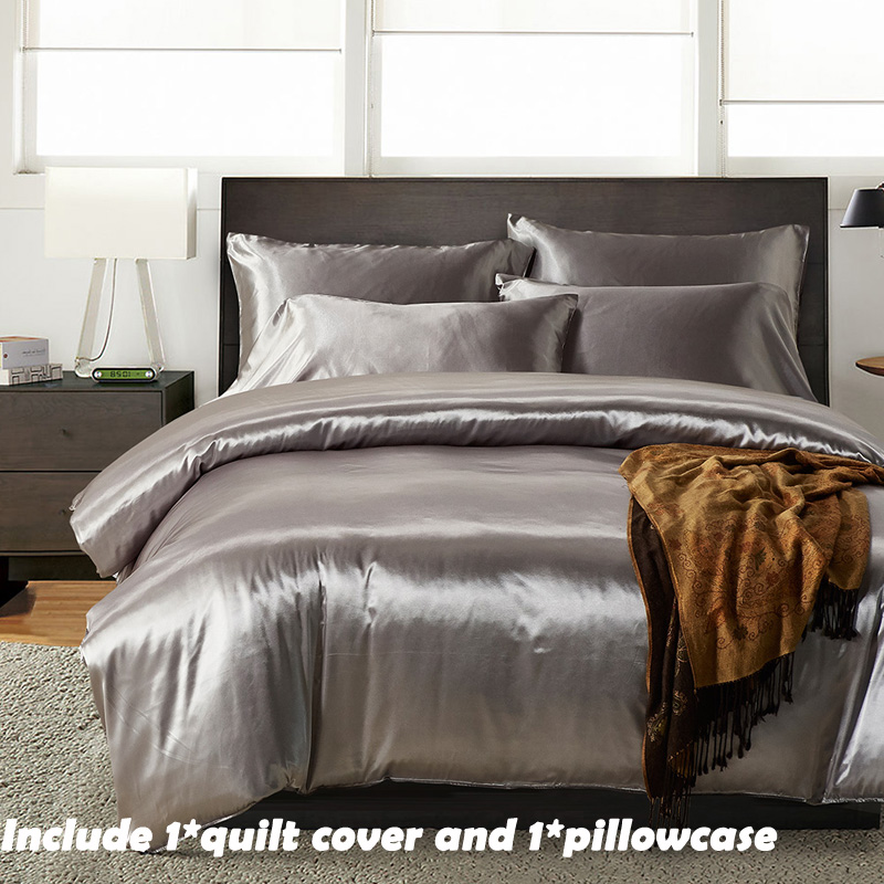 EHOMEBUY New Bedding Sets 1 Quilt Cover With 1 Pillowcase Home Comfortable Tasty Luxury Grey Reactive Printing US Size