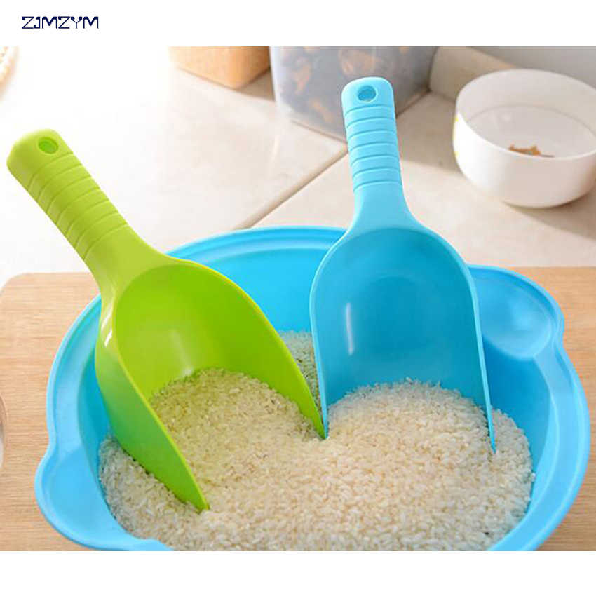 Plástico cozinha erva em pó arroz tempero sal açúcar colher de farinha colher pá ferramentas de cozinha