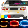 OKEEN Car Styling Amber Red Blue Led Trunk Undercarriage Floating Light Strip With Turn Signal Function