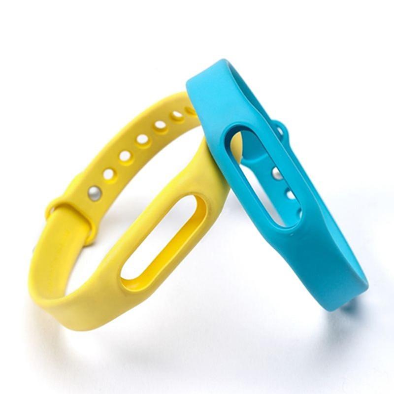 SANWOOD Colorful Silicone Wrist Strap Bracelet Double Color Replacement watchband for Original Xiaomi Mi Band 1 1S montre Sangle original xiaomi e27 yeelight ii mi light colorful