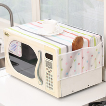 Wholesale PEVA Environmental Microwave Oven Furniture Electrical Waterproof Table Cloth Multi-pocket Cover Storage Bag