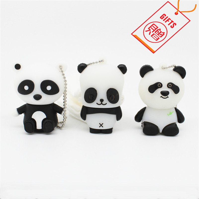 FREE GIFT Panda Pen Drive Personalizado Usb 2.0 Flash Drive Disk Real Capacity Gift Memory Stick Pendrive 4GB 8GB 16GB 32GB