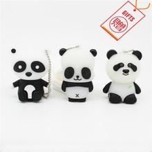 FREE GIFT Panda pen drive personalizado usb 2.0 flash disk real capacity gift memory Stick pendrive 4GB 8GB 16GB 32GB