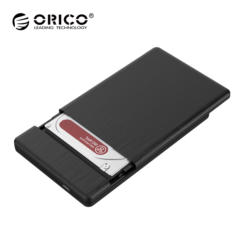 2.5 Inch TYPE-C HDD Case USB3.1 Gen1 5Gbps External Hard Drive Disk Enclosure ORICO HighSpeed Case for 7mm SSD Support UASP orico tool free 2 5 inch usb 3 0 hard drive disk hdd external enclosure case for 9 5mm 7mm 2 5 sata hdd ssd uasp supported