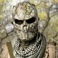 Esqueleto crânio Airsoft Paintball BB Gun Full Face Protect Máscara Capacetes de Tiro Espuma Acolchoada Dentro Black Eye Escudo Cobertura Completa