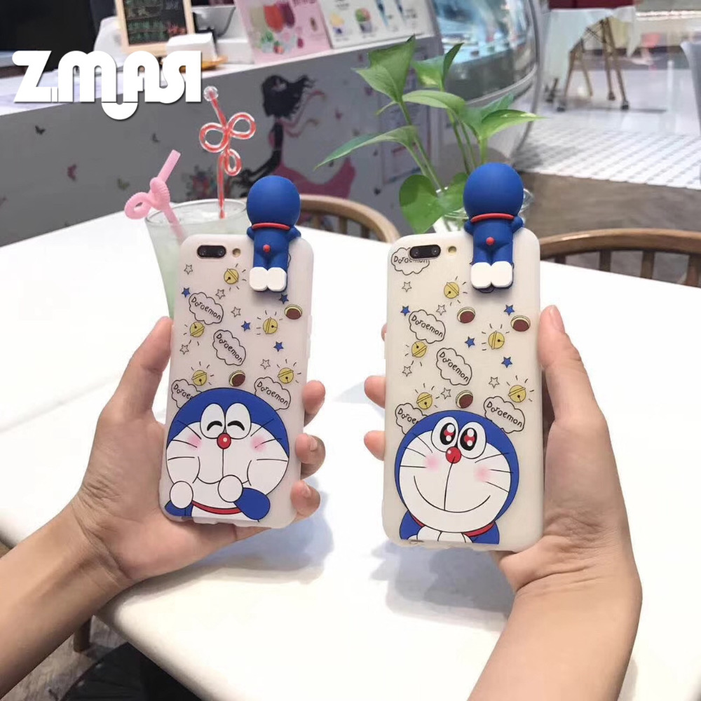 ZMASI Chubby Doraemon Cell Case for Huawei P10 P9 Phone Bag for Huawei Honor 8 Soft Back Shell Cover