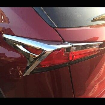 ل كزس NX 2015 2016 2017 فرامل ABS من الكروم أضواء خلفية الخلفية مصابيح حامي الديكور غطاء إطاري تقليم اكسسوارات 4 قطعة