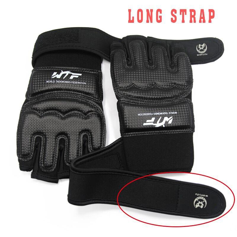 Половина Finger Боксёрские перчатки из искусственной кожи ММА Kick Боксёрские Перчатки Каратэ Муай Тай тренировки перчатки дети Для мужчин