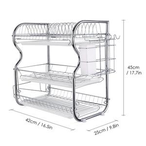 Image 3 - Multi functional 3 Tier Dish Rack Kitchen Supplies Storage Rack Draining Rack Chopsticks/Knives/Cutting Board Holder Drainboard
