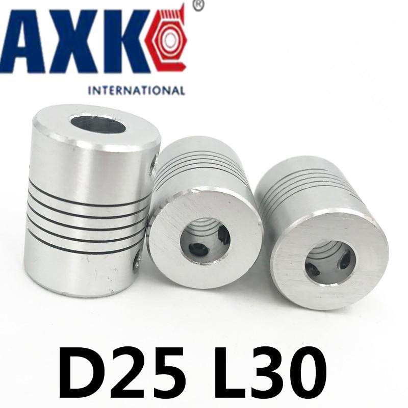 цена  20pcs Aluminium Plum Flexible Shaft Coupling 10mm to 12mm Motor Connector Flexible Coupler 10mmx12mm D25mm L30mm  онлайн в 2017 году