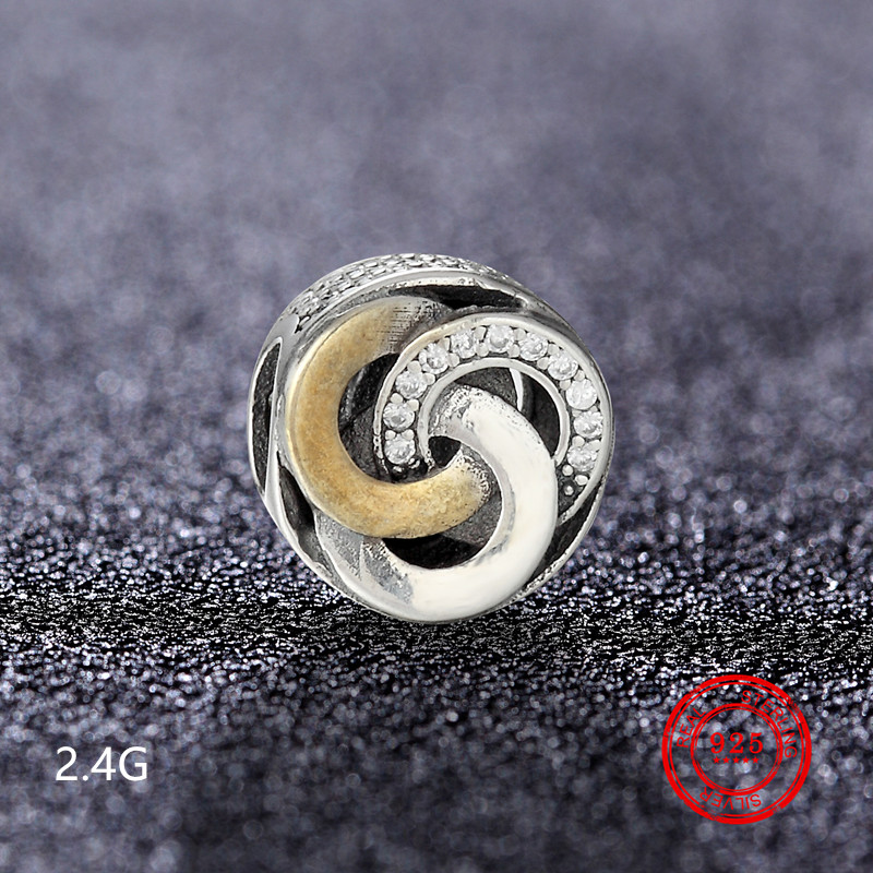 925 sterling silver bead pendant for Pandora original charm bracelet jewelry Valentine 39 s Day gift accessories wholesale in Beads from Jewelry amp Accessories