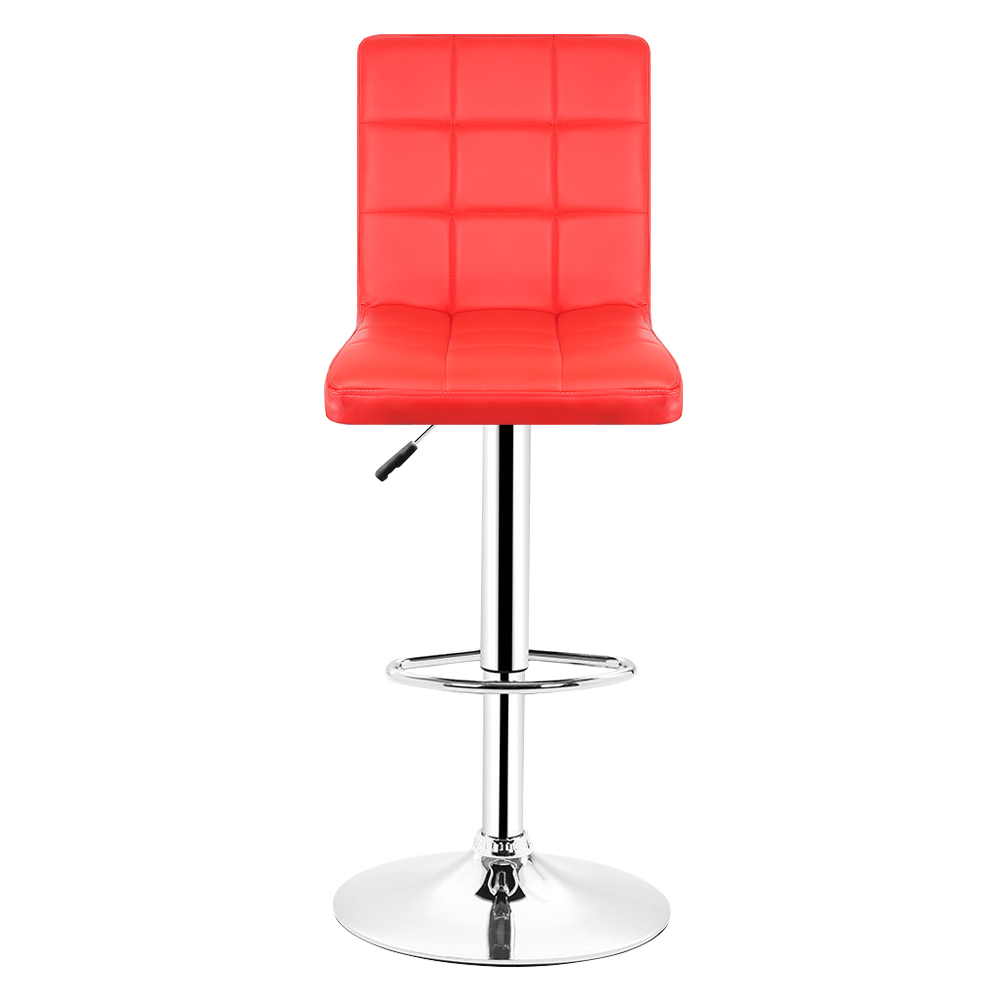 Jeobest 2pcs Set Kitchen Bar Stools Red Leather Adjule Chair Breakfast Swivel Stool Stock In De Fr Hwc Chairs From Furniture On